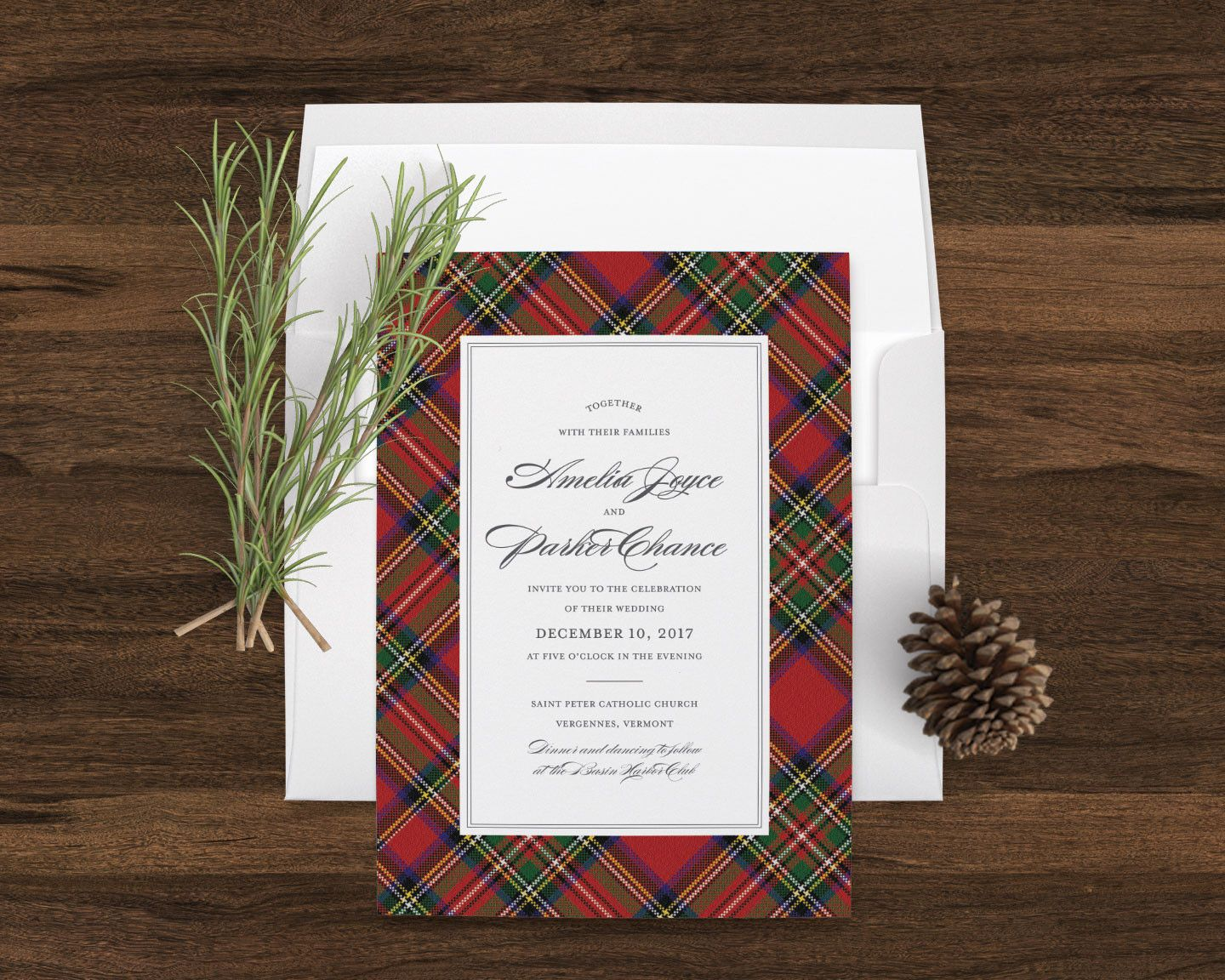 Highlands Tartan Wedding Invitation Wedding Tablescape Pinterest