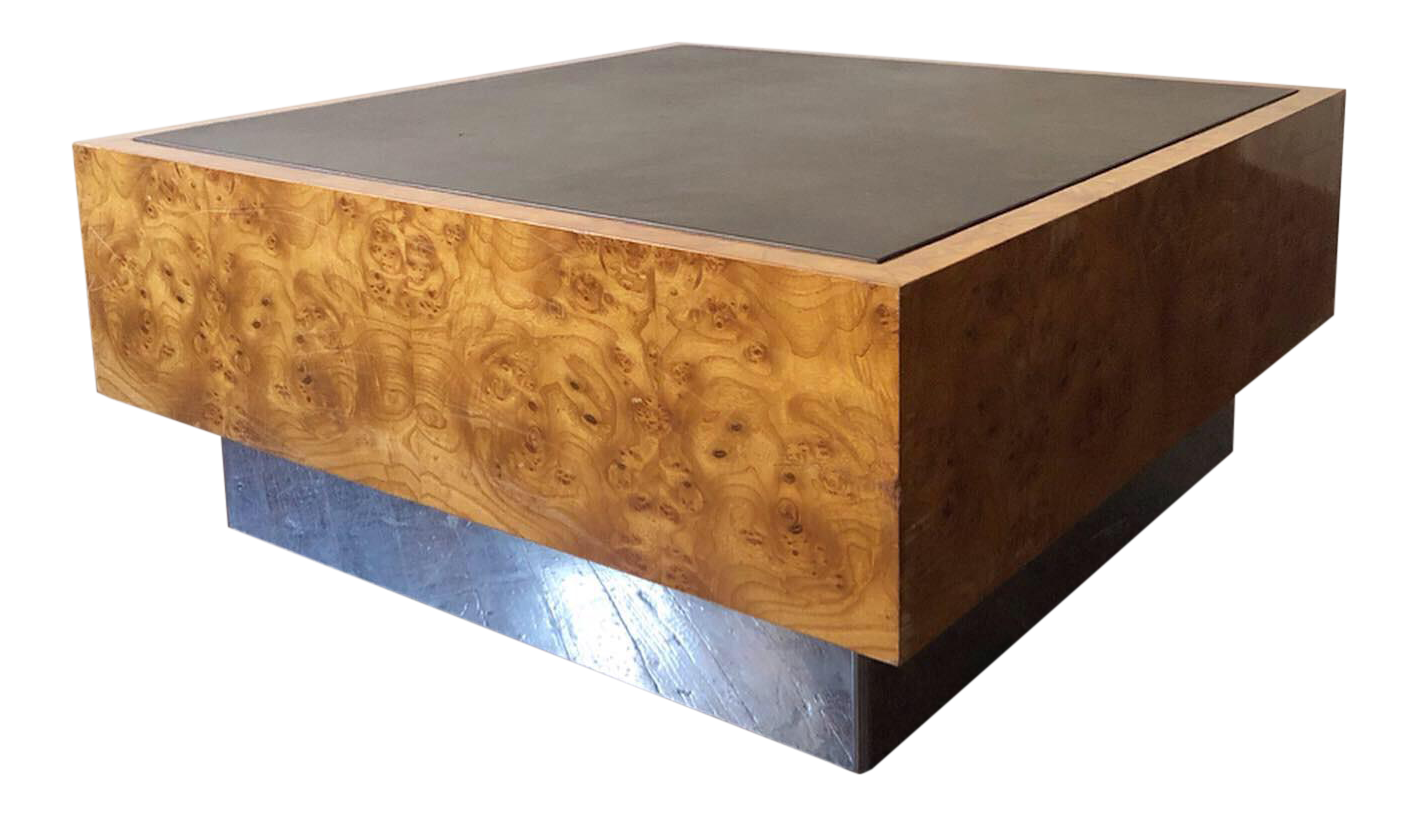 1970s Mid Century Modern Milo Baughman Floating Cube Coffee Table Cube Coffee Table Table Midcentury Modern
