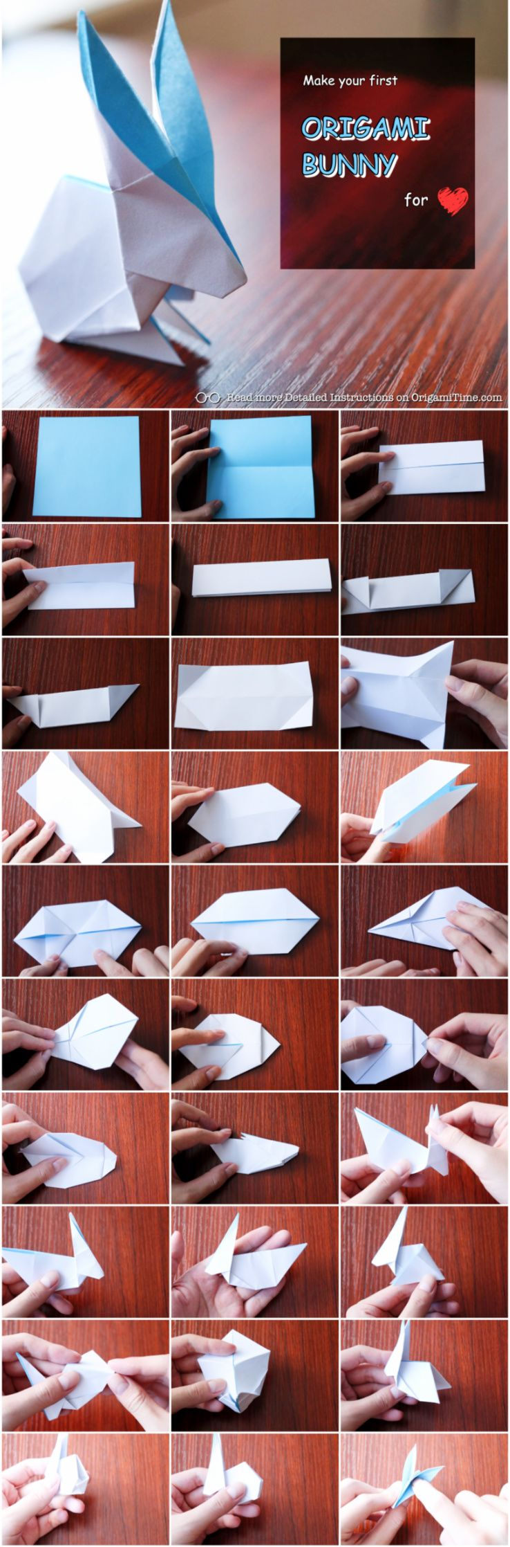 How To Make An Origami Rabbit As Simple As Possible Origami Passo A Passo Coelho