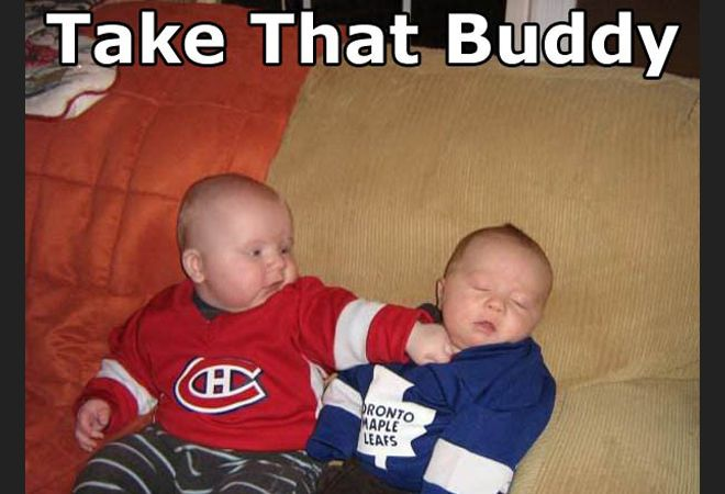 Hockey fight (have to change those jerseys to Red Wings & Penguins at my house!)
