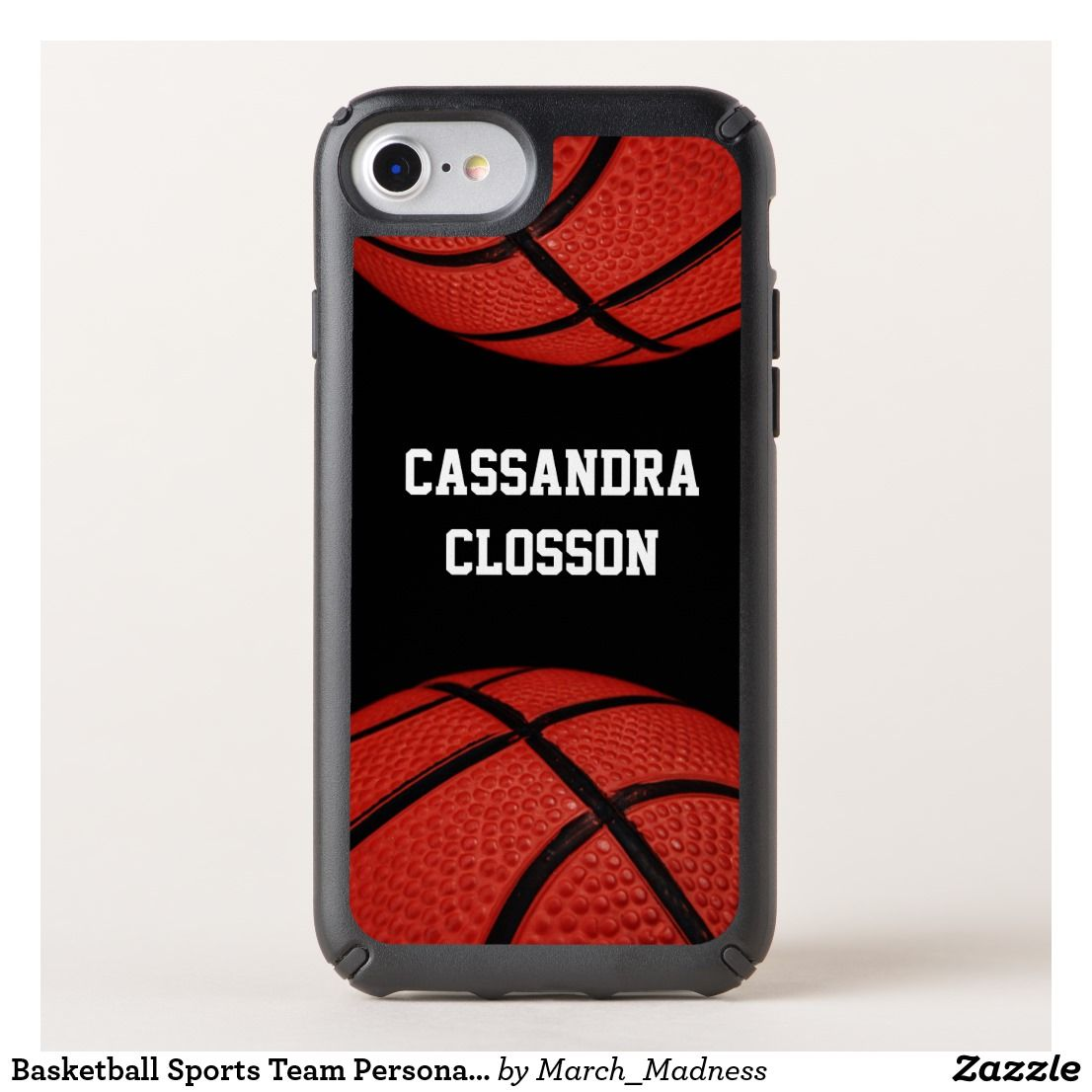 buy popular 7bb08 73a2a Basketball Sports Team Personalized phone case   Zazzle.com   Cell ...