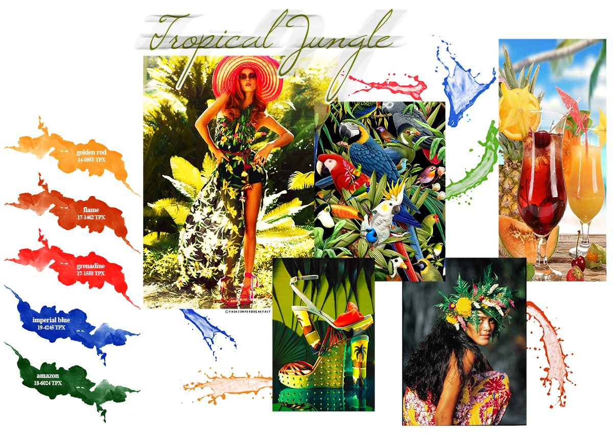 """My head is a jungle, jungle!"" (cit.) Summer 2016 will be tropical, bold and very apparent, with jungle inspiration."