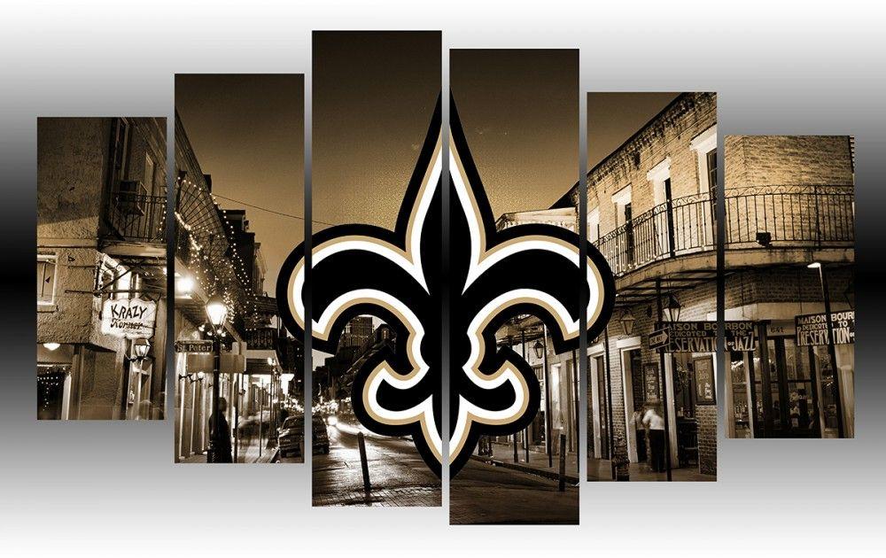 New Orleans Saints Nfl Football Team Wall Art New Orleans Saints Man Cave Ideas New Orleans Saints Nfl Football Teams