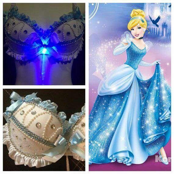 Cinderella Lingerie Disney Rave Bra Cinderella Rave Outfit Rave Clothing Cinderella Rave Bra Adult Disney Princess Cinderella Cosplay