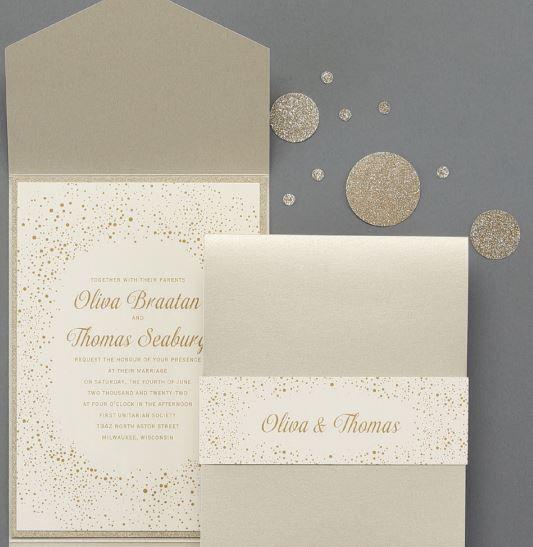 Carlson Craft Pocket Wedding Invitations: Pin By Invitations By Lily On Wedding Invitations