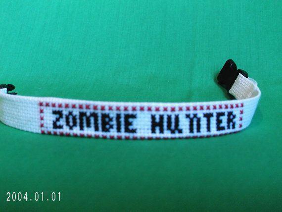 Zombie Hunter Bracelet Cross Stitch by SnarkyLittleStitcher, $8.50