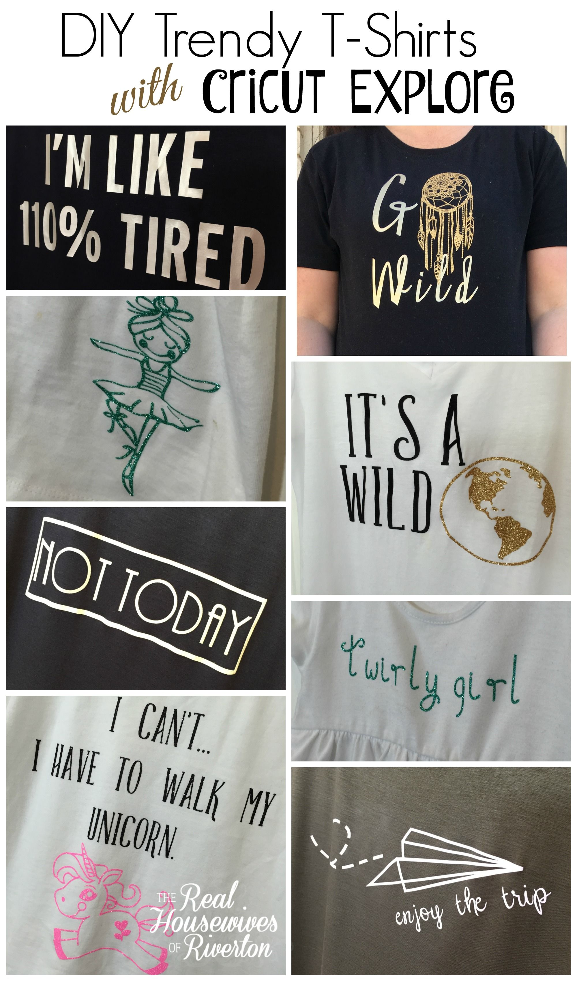 DIY Trendy TShirts with Cricut Explore Air Cricut