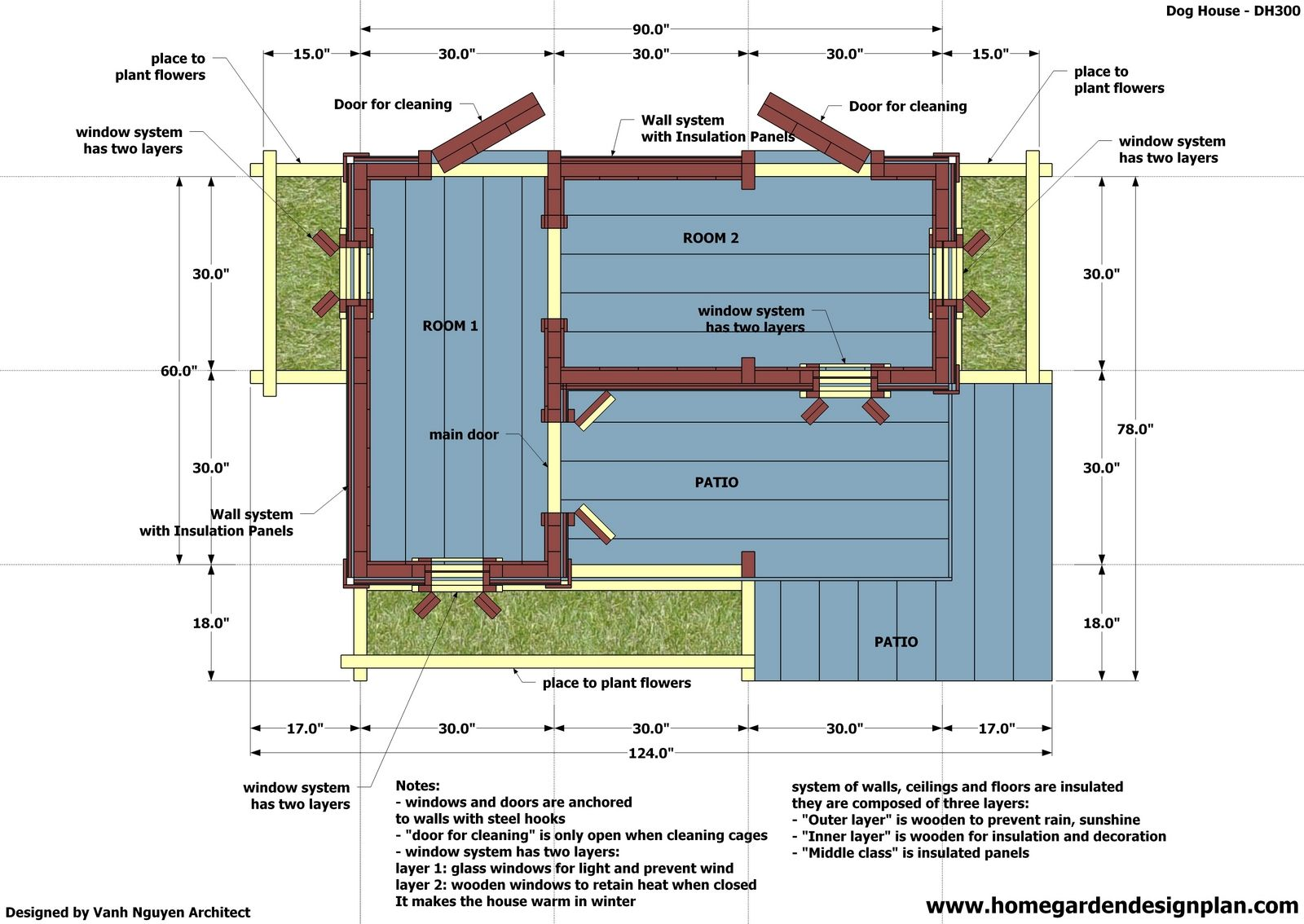 Insulated dog house plans insulated dog house plan free for Dog kennel floor plans