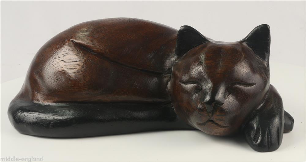 Wooden Sleeping Cat Figure Manufacturers Code: 333160 ...