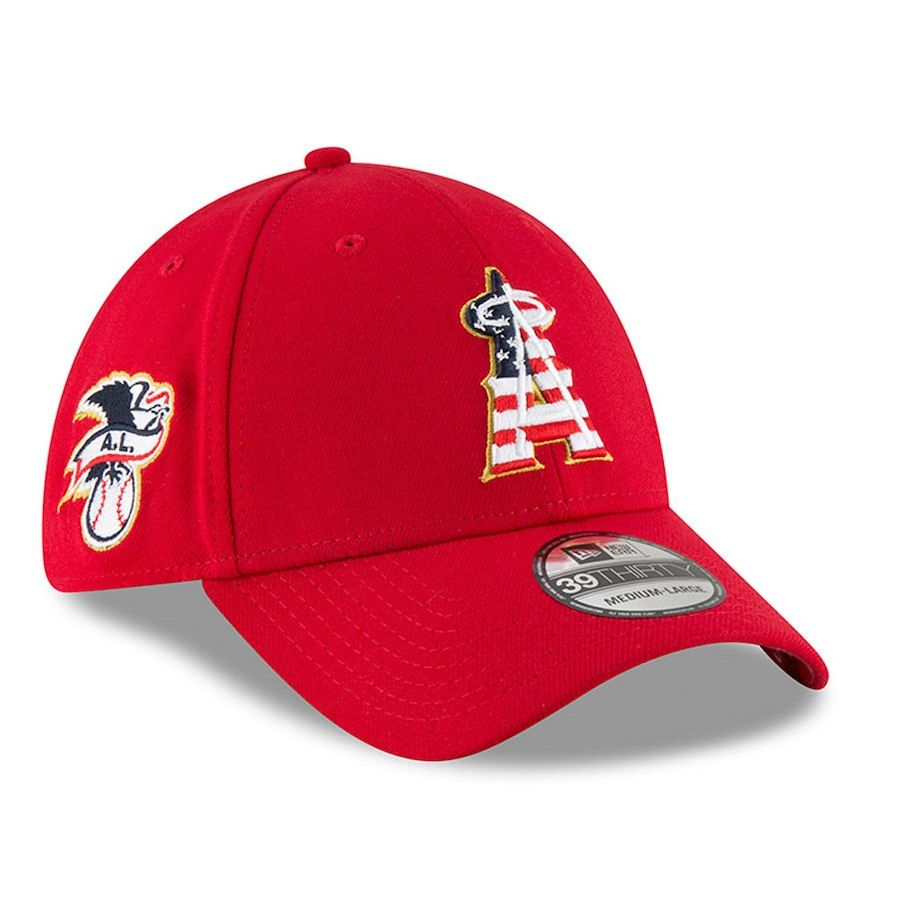 los angeles d41ee b6a60 Men s Los Angeles Angels New Era Red 2018 Stars   Stripes 4th of July  39THIRTY Flex Hat, Your Price   31.99