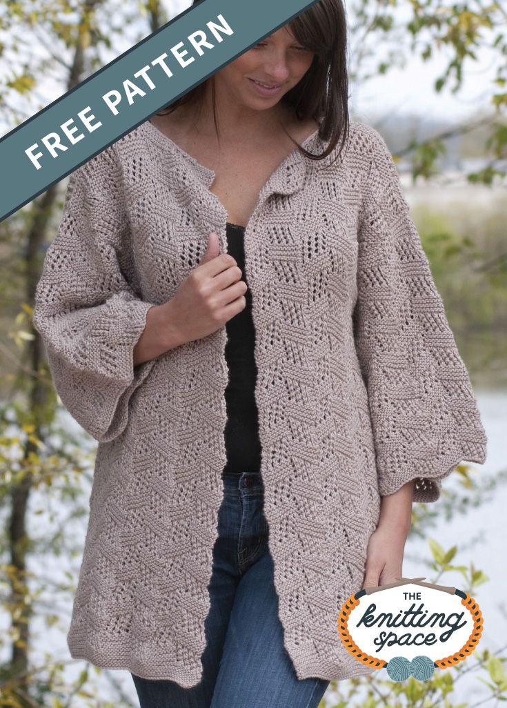 Tilting Block Knitted Cardigan [FREE Knitting Pattern ...