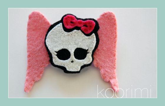 Broche de fieltro de Monster High personalizado