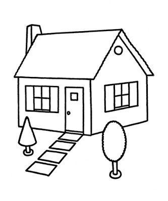 Printable House Coloring Pages House Colouring Pages Coloring