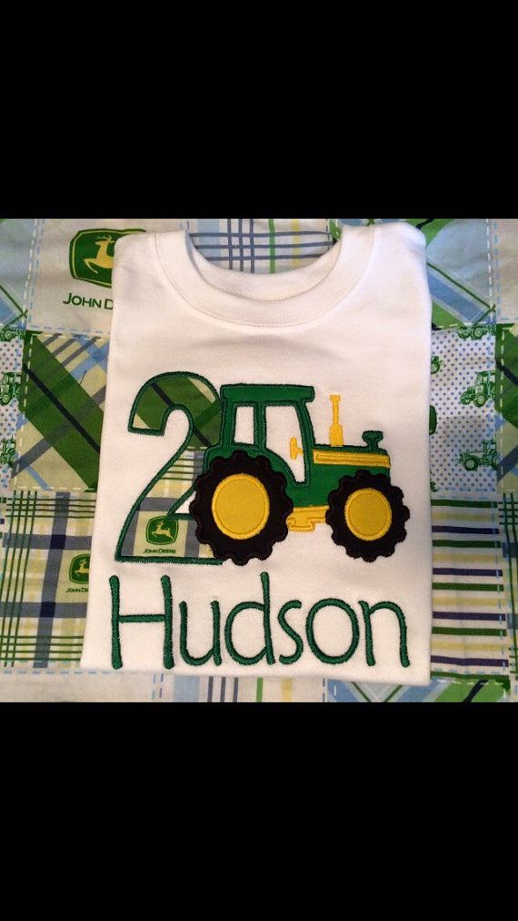 John Deere Tractor Birthday Shirt by AndSewOn30 on Etsy
