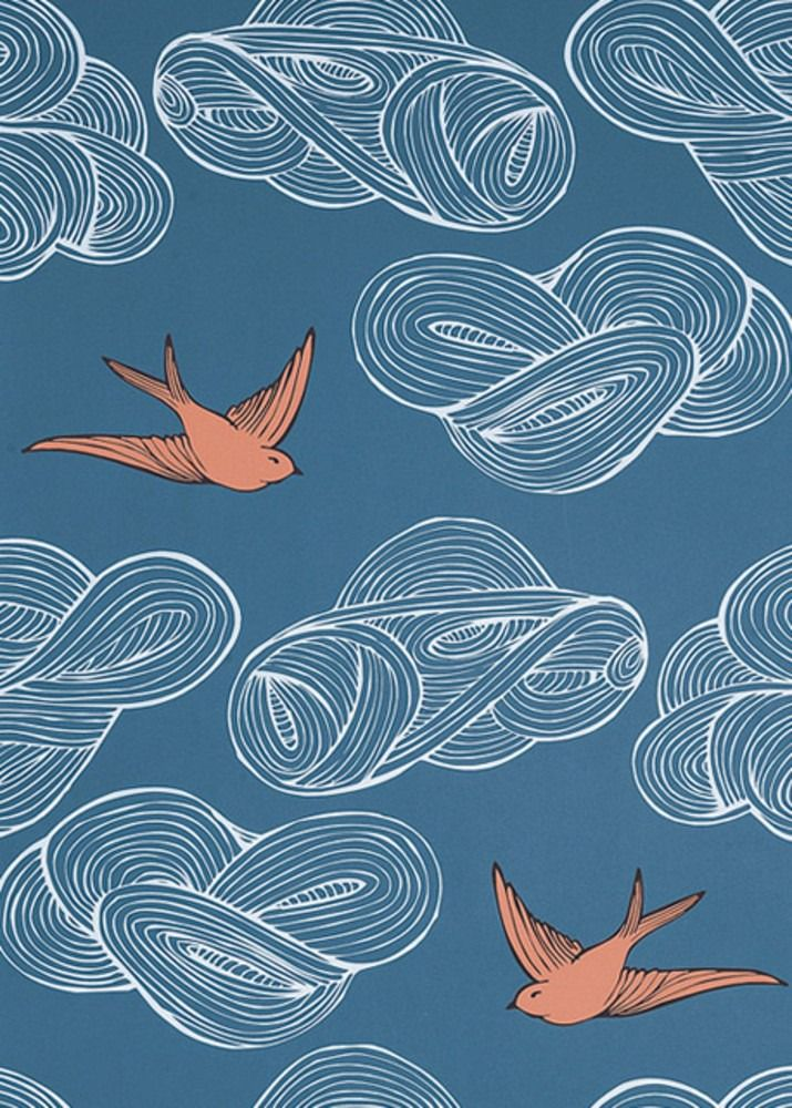 julia rothman for hygge amp west daydream in blue wallpaper
