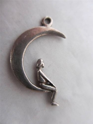 Sterling Silver Person Sitting Charm