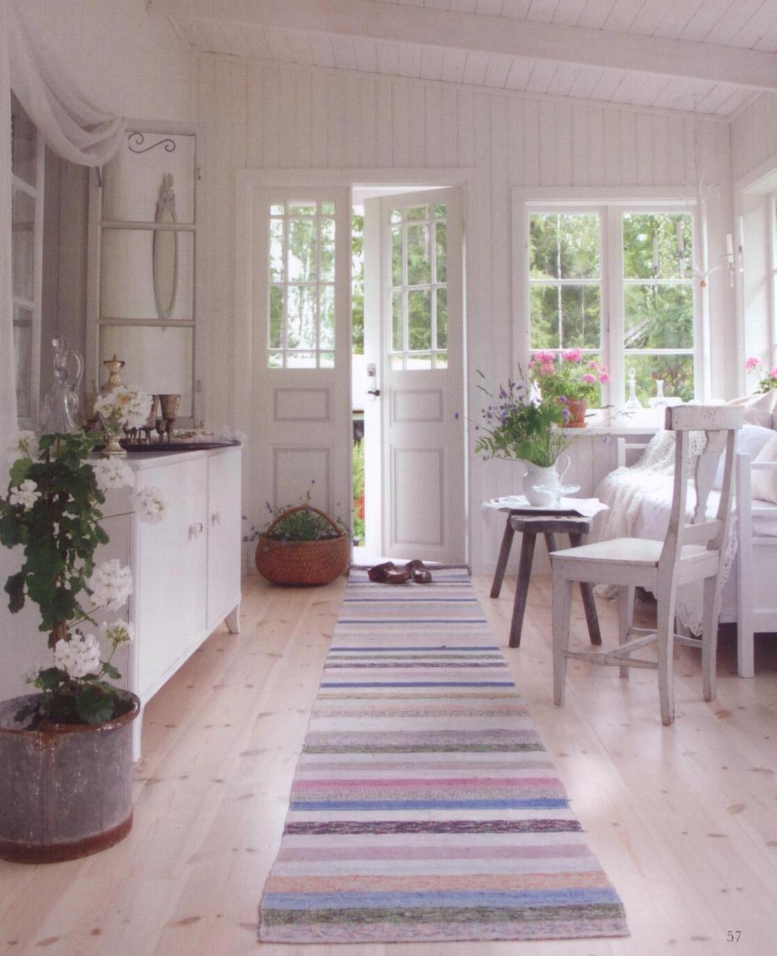 Cottage interior design pinterest alfombra de lana - Alfombras para recibidor ...