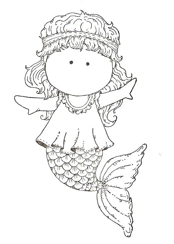 tilda coloring page - Bing Images Coloring Stamps Magnolia, Tilda - new little mermaid swimming coloring pages
