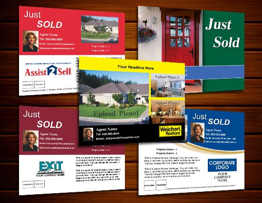 Just Sold Postcards Real Estate Marketing Products Pinterest