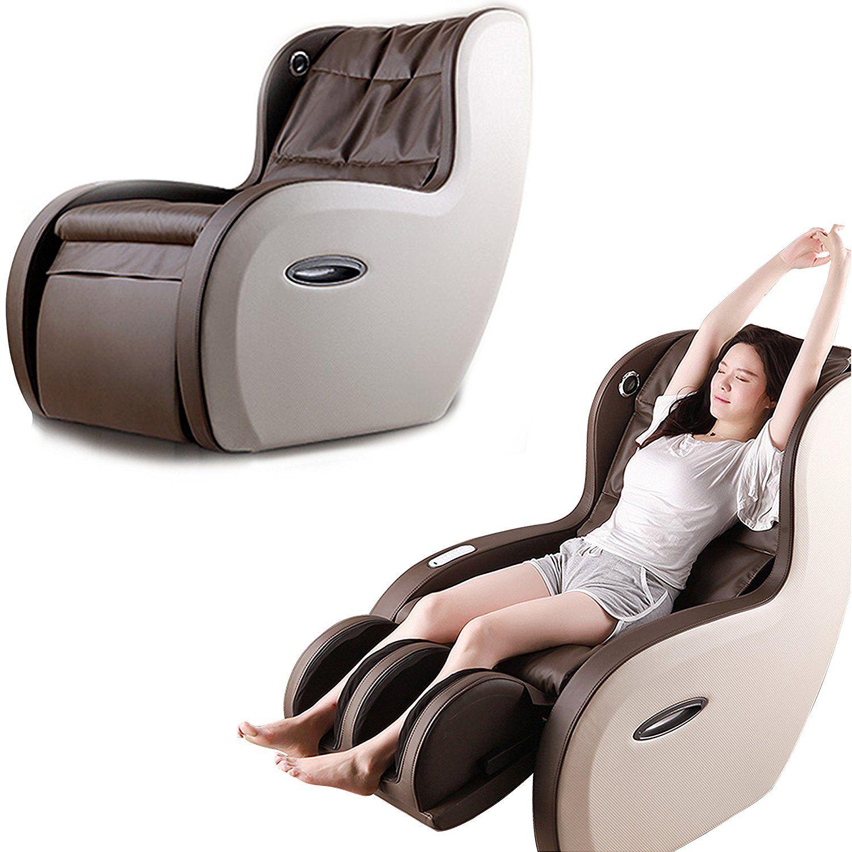2 In 1 Shiatsu Roller Pu Leather Full Body Massage Recliner Chair