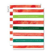 Watercolor Rows Holiday Invitations