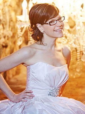 Noiva também pode usar óculos