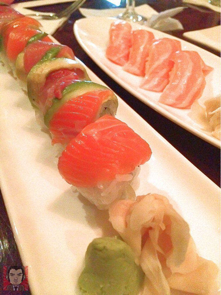 Sushihana Anese Restaurant San Antonio Tx United States Rainbow Roll 2 Orders Of Salmon Sushi Nagiri
