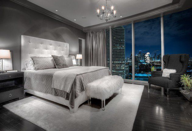 20 Sleek Contemporary Bedroom Designs For Your New Home Gray Master Bedroom Bedroom Design Contemporary Bedroom Design