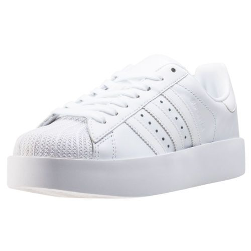 f6734b569852 adidas Superstar Bold W Womens Trainers White White New Shoes ...