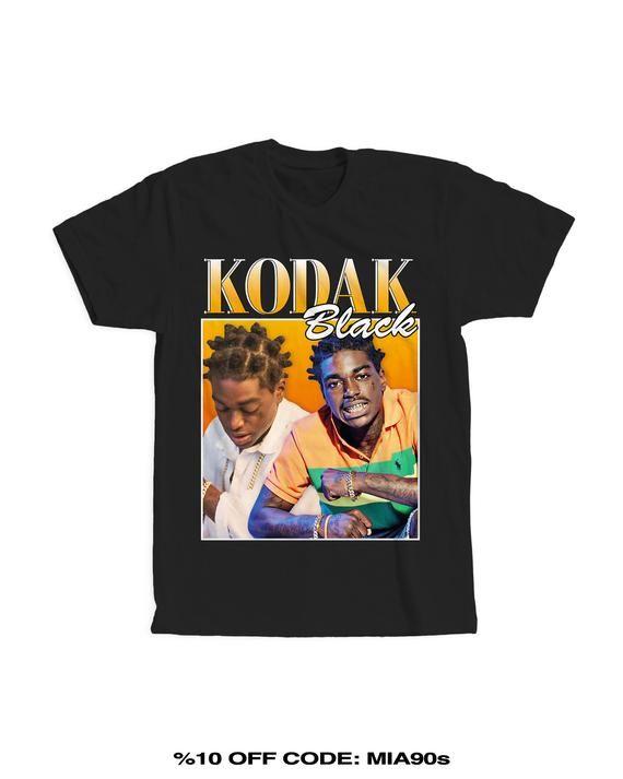 8ebeff8dc Kodak Black T-Shirt, kodak black art, vintage shirt, hiphop clothing, free  kodak, homage shirt, band shirt, rave outfit, bff gift, rap shirt