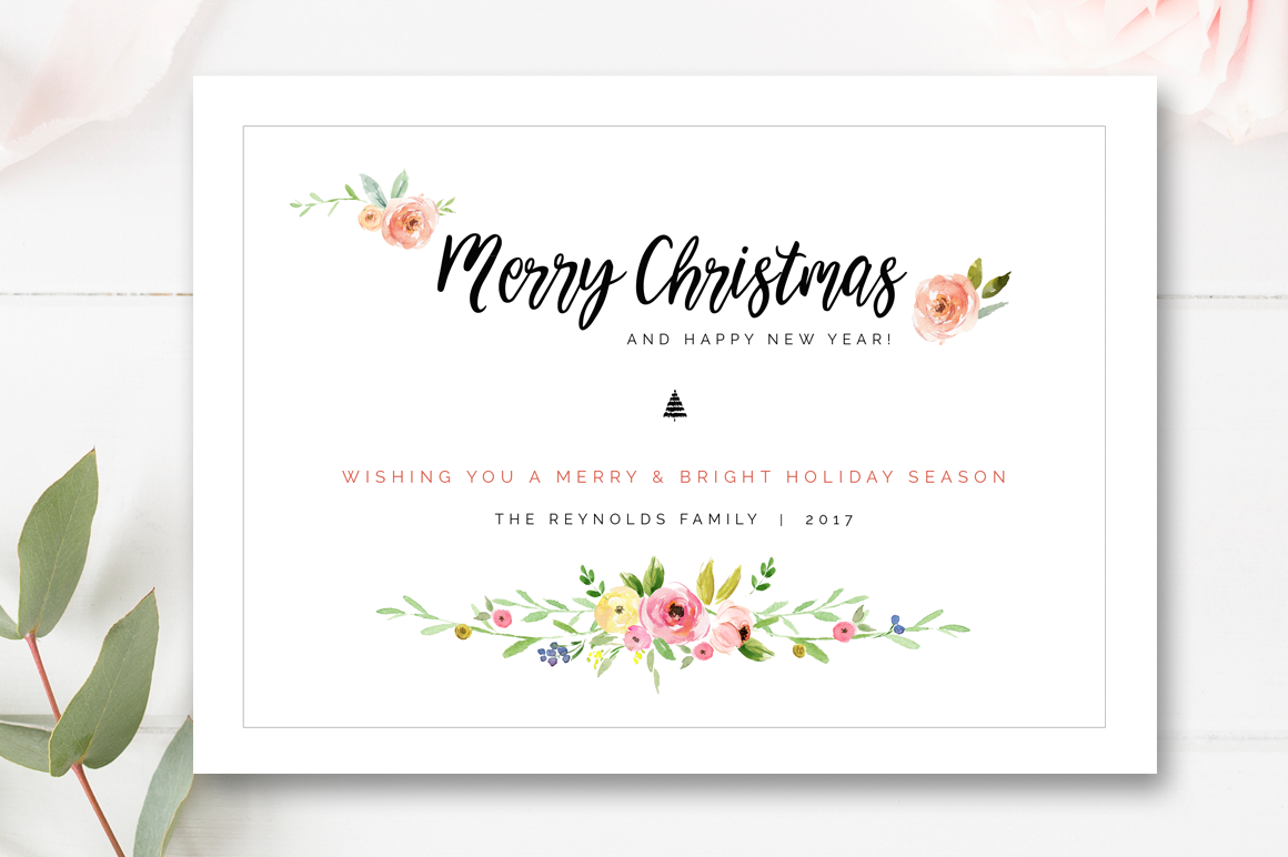 Christmas Photo Card Template Holiday Card Templates For
