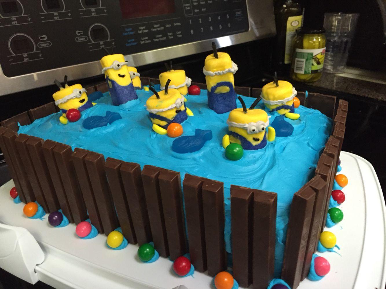 Our Minions in a hot tub birthday cake httpswwwbirthdaysdurban