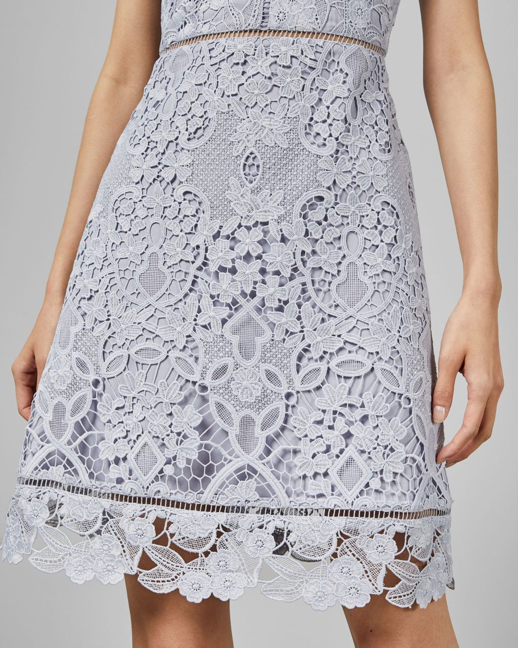Ted Baker Primrose A Line Lace Tunic Dress Pale Blue In
