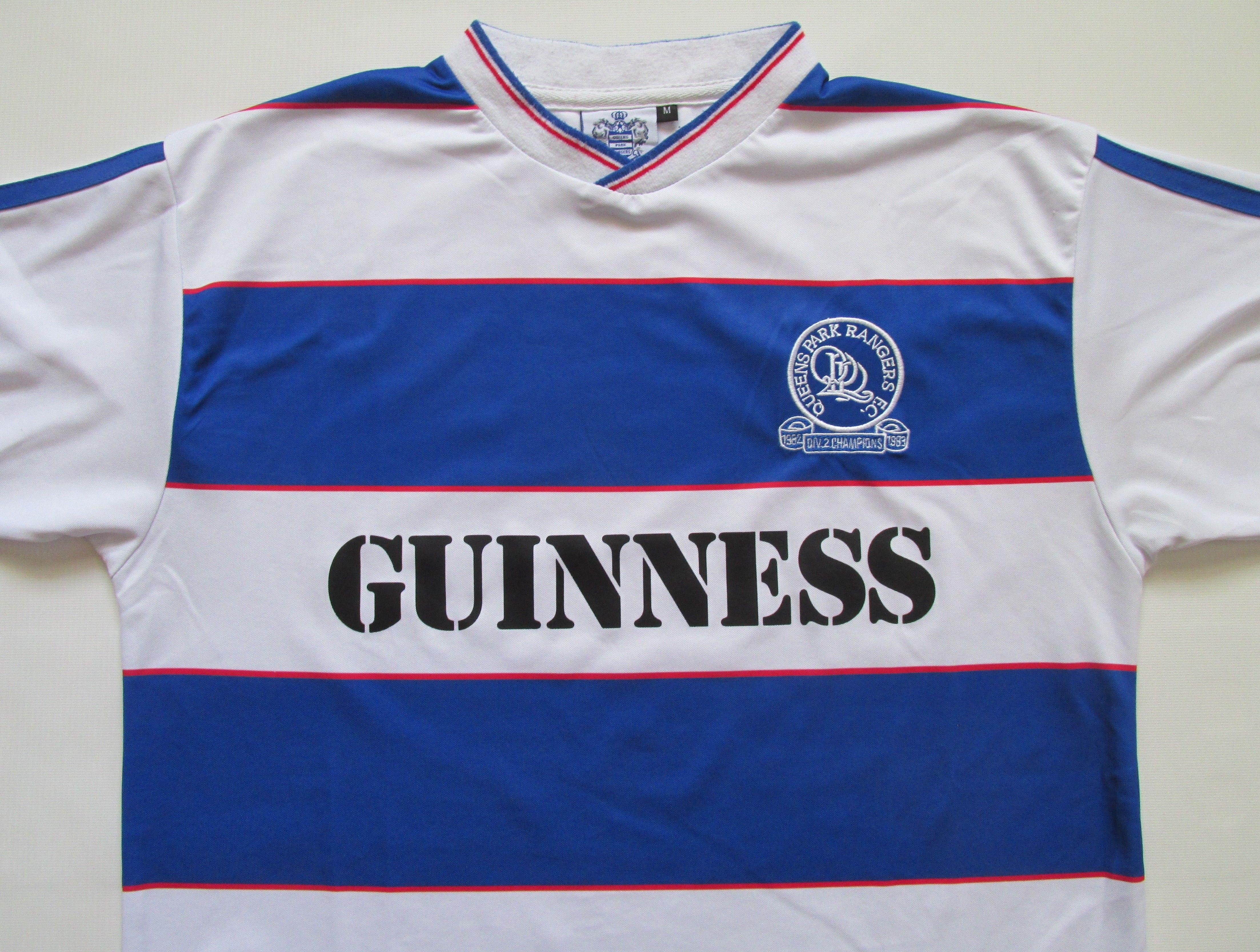 ffc473b82 Queens Park Rangers 1982 1983 retro replica champions football shirt QPR  80s vintage Guinness soccer