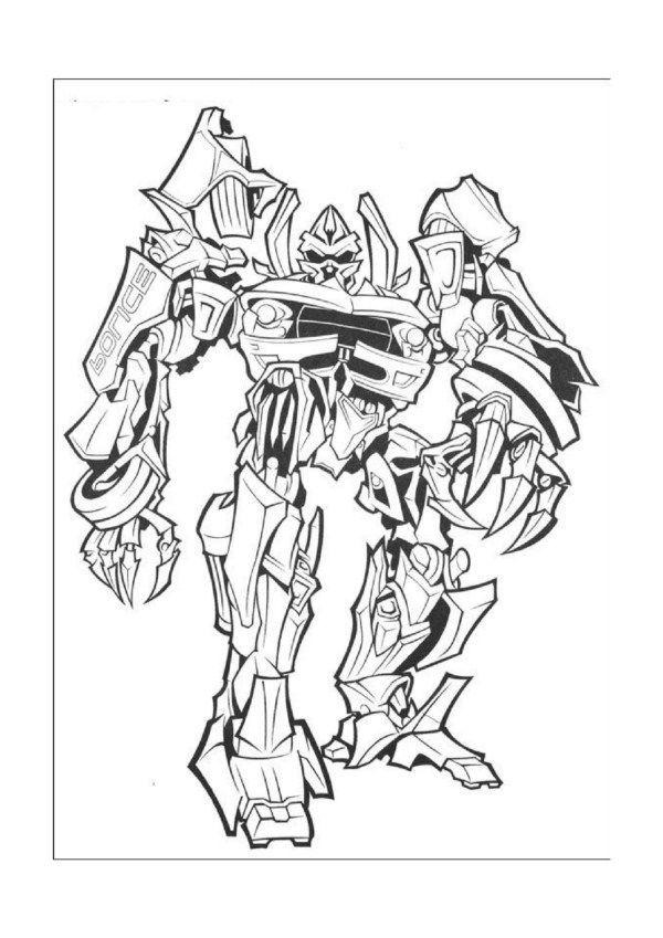 Transformers Tegninger til Farvelægning. Printbare Farvelægning for ...