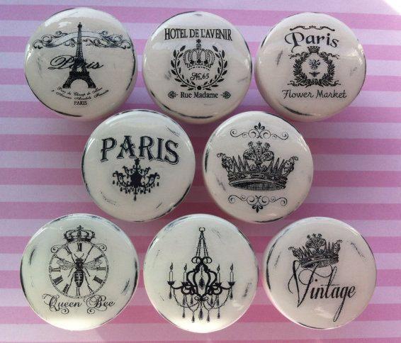 NOUVEAU tiroir Vintage boutons faits main tire par ...
