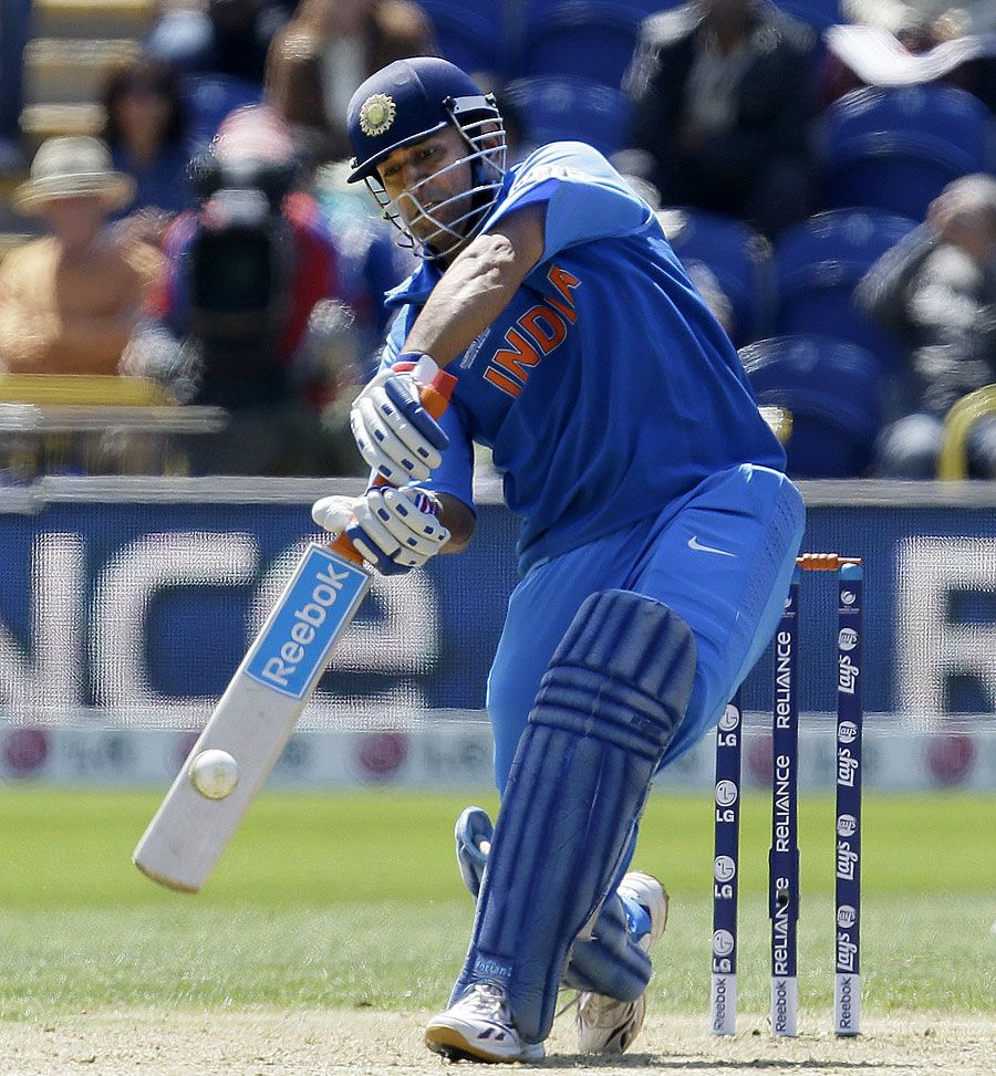 MS Dhoni Hit A Quick 27 India V South Africa Champions Trophy Group B Cardiff June 6 2013