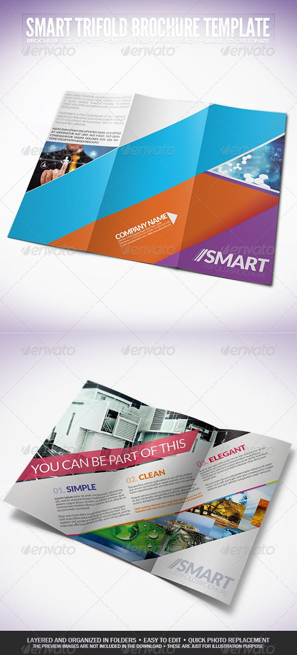 smart trifold brochure graphicriver brochure size 8 5 11 3mm