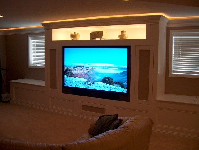 contemporary built in entertainment centers built in