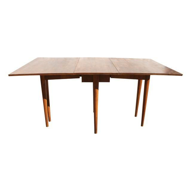 Russel Wright Conant Ball Dining Table Drop Leaf Mid