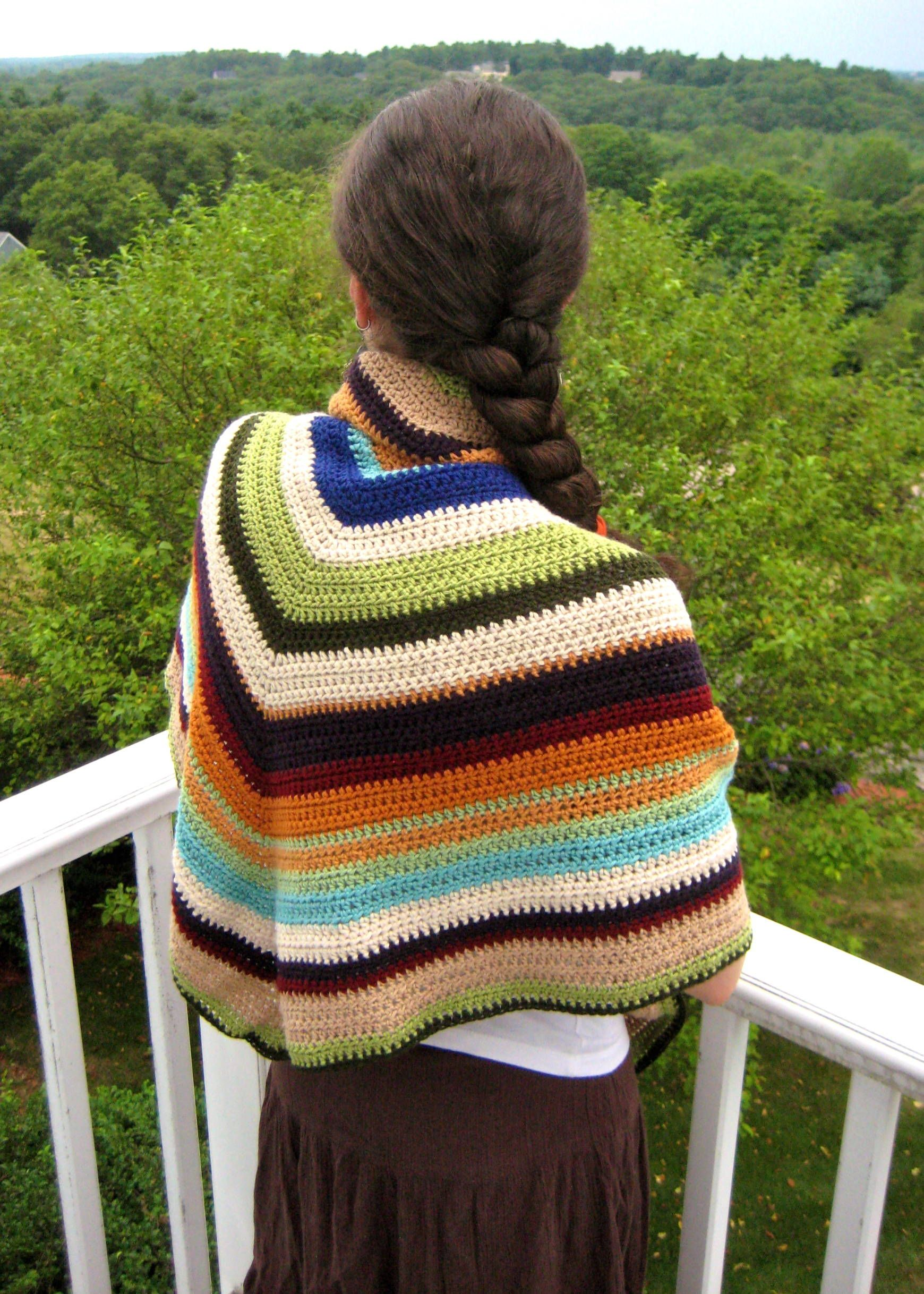 Don\'t Throw Away Your Scrap Yarn: Crochet a Shawl with This Guide ...