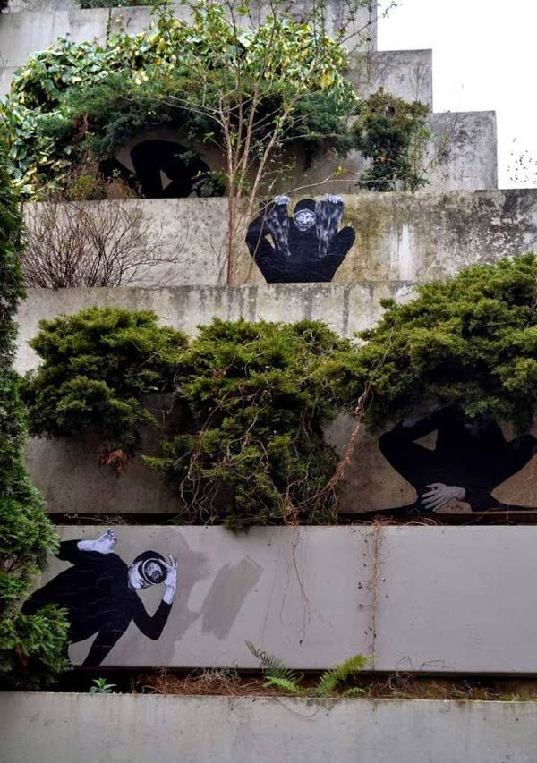 Paste ups by French artist Levalet #levalet #pasteups