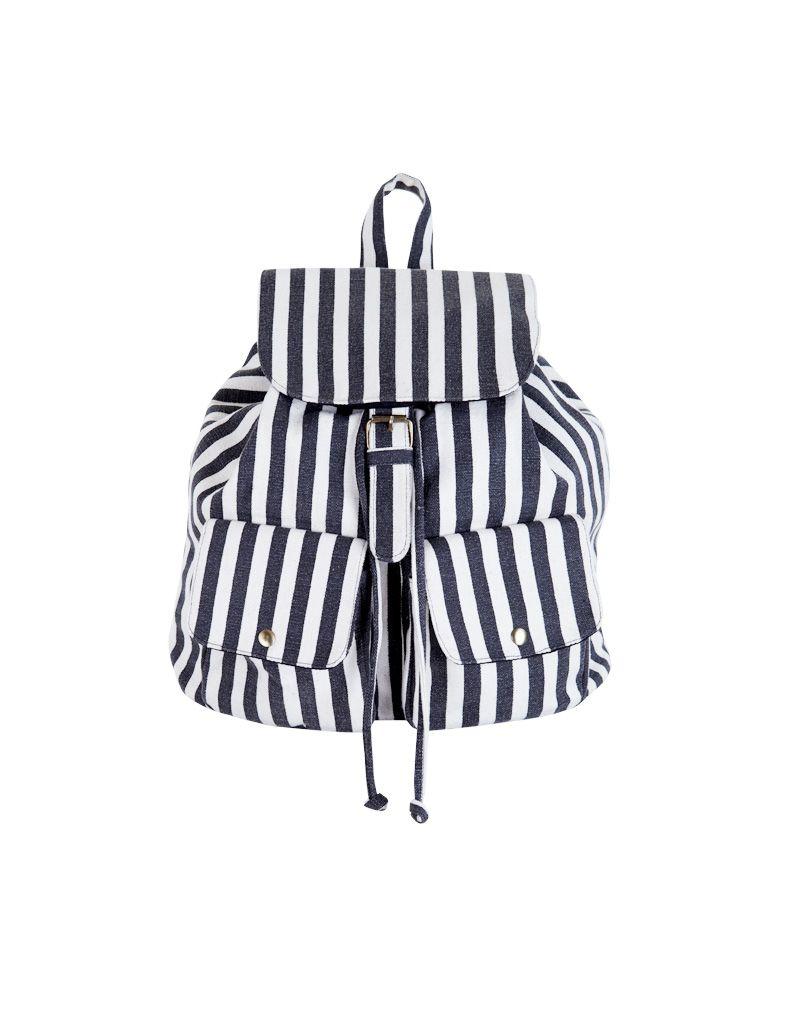 Producto: mochila bolsillos rayas