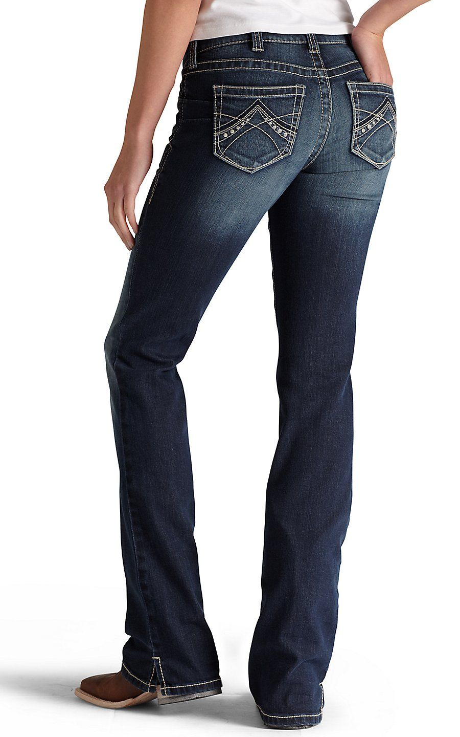 cc4c64a2223 Ariat® REAL Denim™ Women s Spitfire Boot Cut Mid-Rise Medium Wash Riding  Jeans