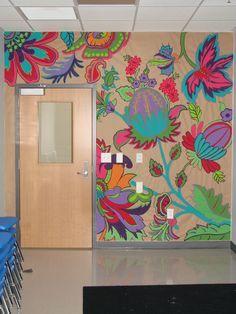 Classroom mural flowerwalldecals education pinterest for Classroom wall mural