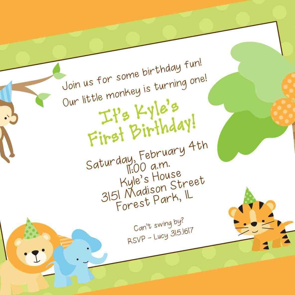 Fantastic Park Party Invitations Composition Invitation Card