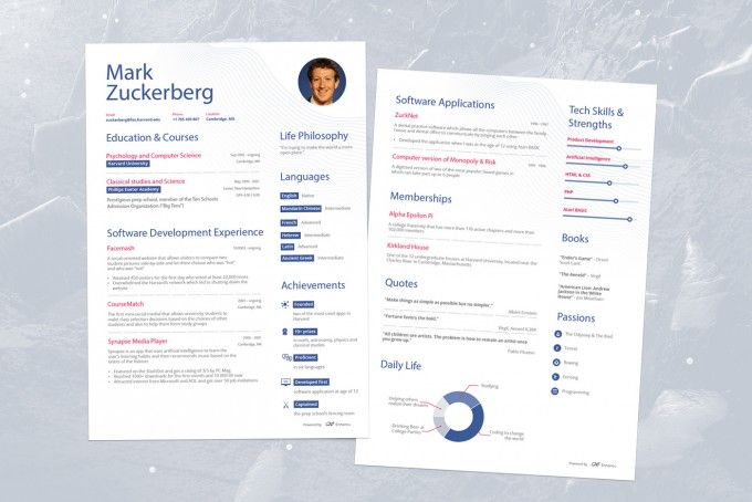 The Success Journey Mark Zuckerbergu0027s Pre-Facebook Resume - how does a resume looks like