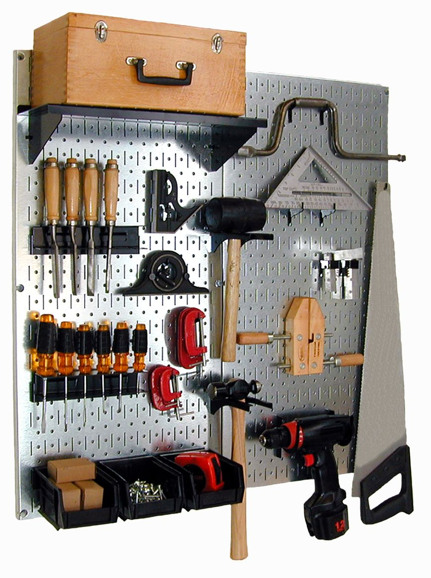 Wall Control Metal Pegboards Work Great For Wood Working