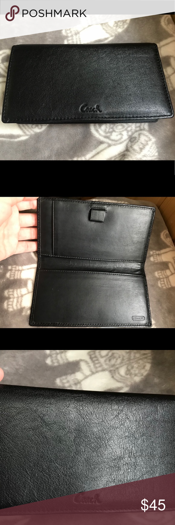 COACH CHECKBOOK Excellent condition checkbook  Used twice.  Very classy and chic  Coach checkbook  Make an offer Coach Accessories #myposhpicks