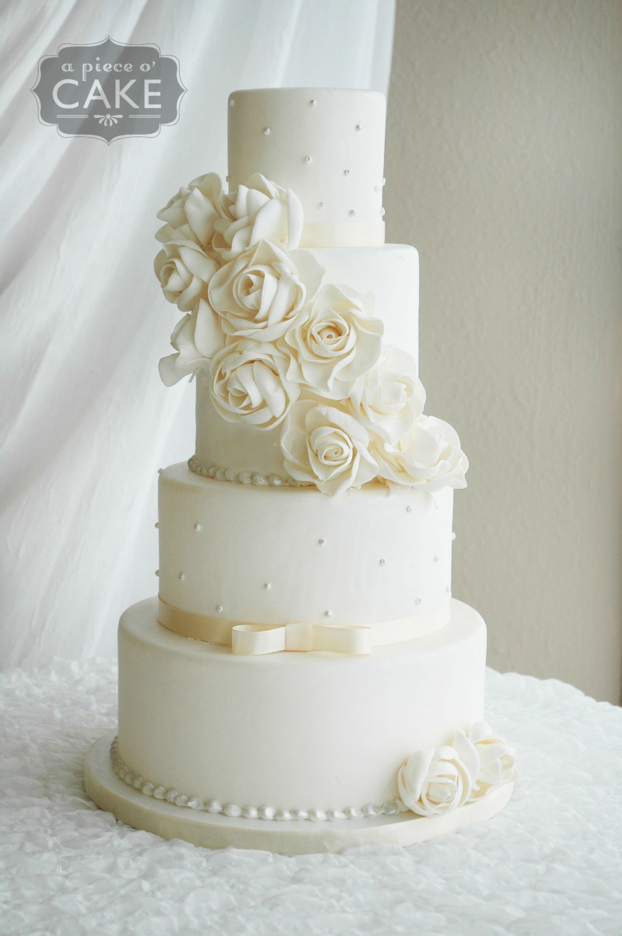 Pin by A Piece O\' Cake on Fondant Wedding Cakes | Pinterest ...